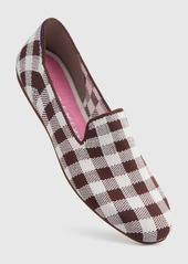 Rothy's The Merino Square Loafer Chestnut Check