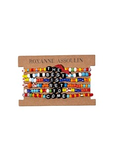 ROXANNE ASSOULIN The Best Is Yet To Come camp bracelets
