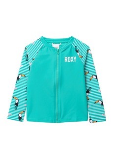 Roxy Bird Zip Long Sleeve Rash Guard (Toddler & Little Girls)