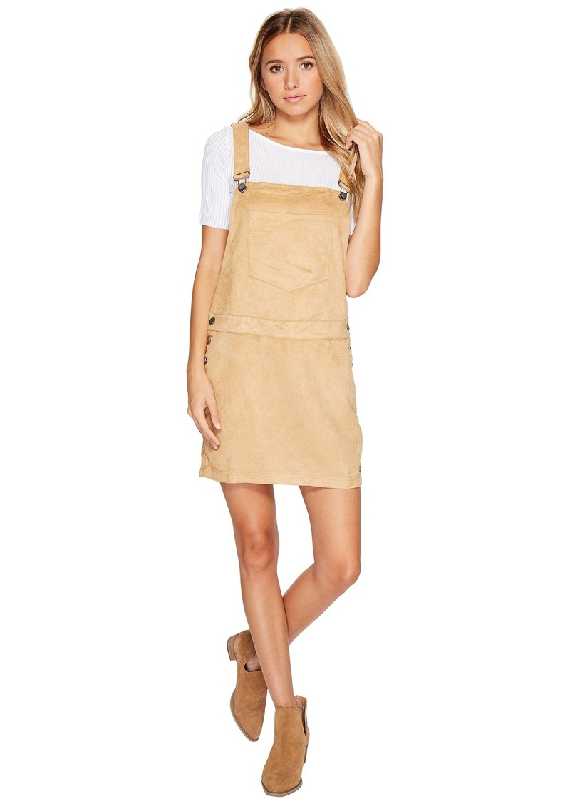 6c90ff64708 Roxy Chase The Sun Faux Suede Dungaree Dress