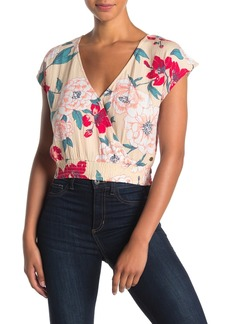 Roxy Colorful Island Floral Woven Crop Top