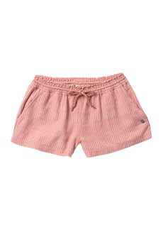 Roxy Feeling Alive Stripe Shorts (Big Girls)