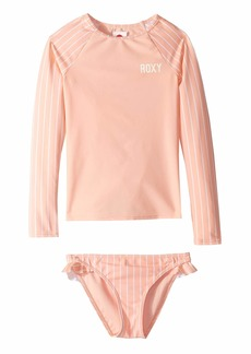 Roxy Field Of Love Long Sleeve Rashguard Set (Big Kids)