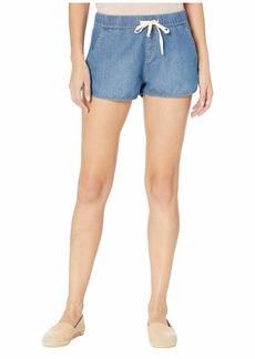 Roxy Free Ride Soft Denim Shorts in Medium Blue