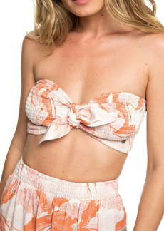 Roxy Honey Braided Hair Knotted Bandeau Top