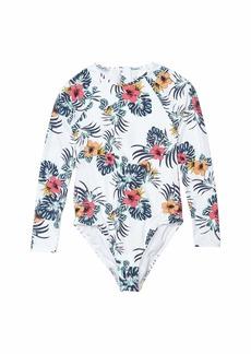 Roxy Love Waimea Long Sleeve One-Piece Swimsuit (Big Kids)