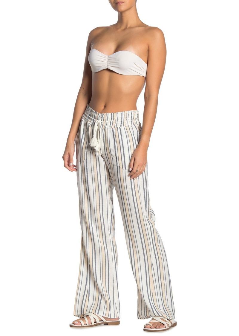 Roxy Oceanside Stripe Tassel Drawstring Pants