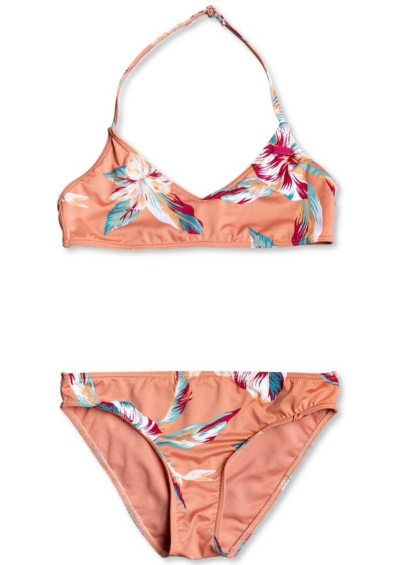 Roxy 2-Pc. Big Girls Made for Roxy Floral Swimsuit Set
