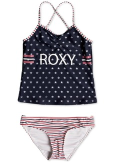 Roxy 2-Pc. Stars & Stripes Tankini Swim Suit, Big Girls