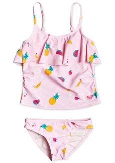 Roxy 2-Pc. Toddler & Little Girls Lovely Aloha Tankini Swimsuit Set