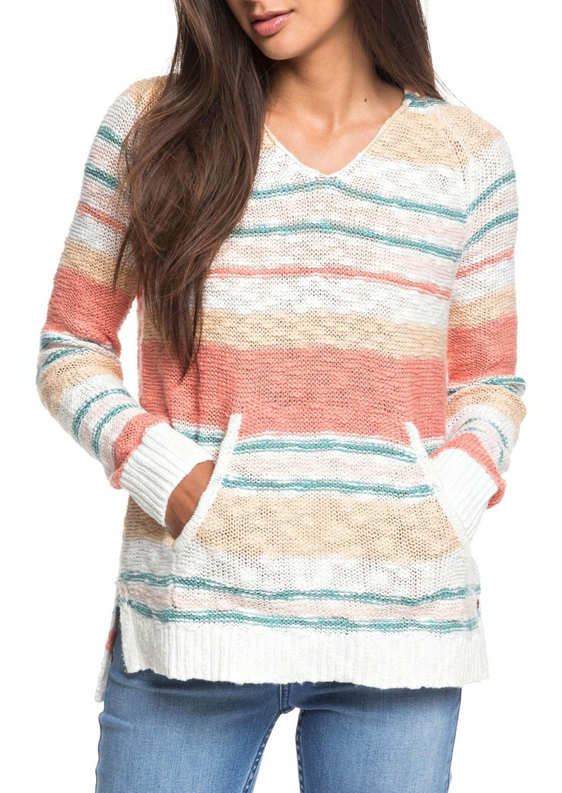 Roxy Airport Vibes Stripe Hooded Sweater
