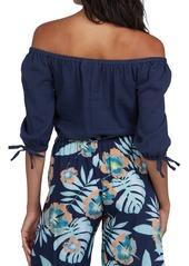 Roxy Bali Shore Off the Shoulder Top