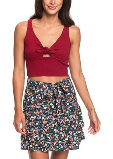 Roxy Belted Floral-Print Skirt
