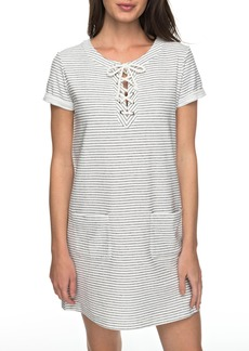 Roxy Beyond the Ocean Stripe Lace-Up Dress