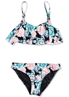 Roxy Big Girls 2-Pc. Surf My Mind Floral-Print Flutter Swimsuit