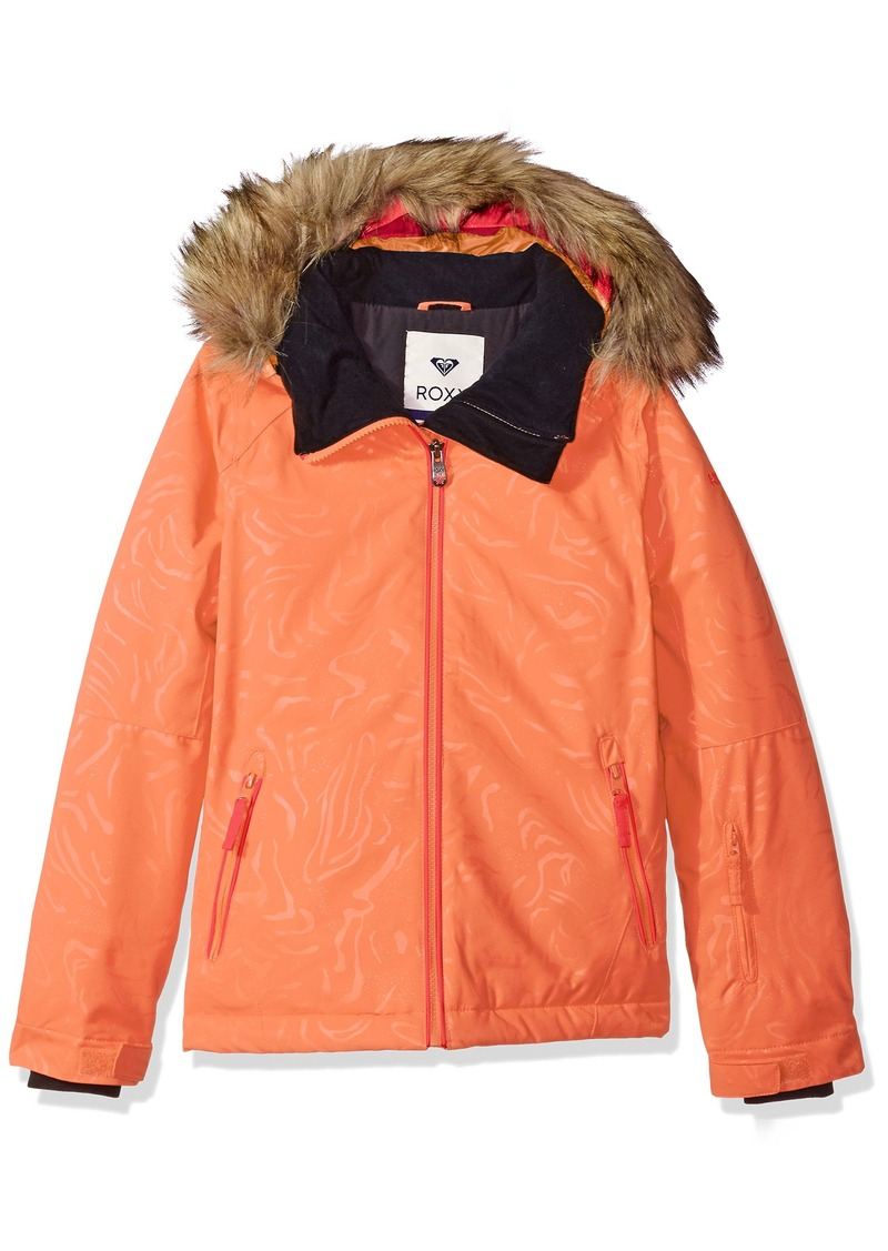 3c823ae369d0 Roxy Roxy Big Girls  American Pie Solid Snow Jacket 8 S