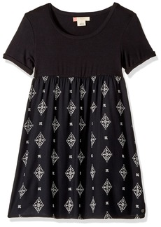 Roxy Girls' Big Branche of Lilac Dress Anthracite Tribal Voice RG