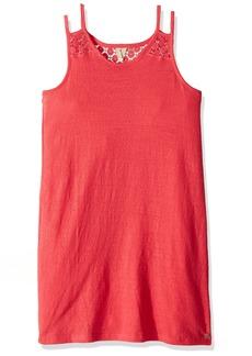 Roxy Girls' Big Bright New Day Dress Rouge red