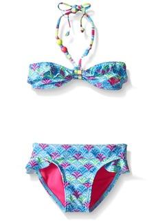 Roxy Big Girls' Island Tiles Ruffle Bandeau Set