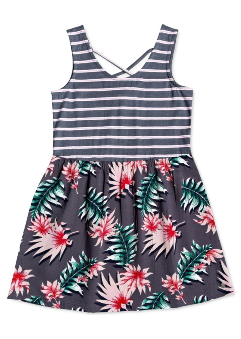 Roxy Big Girls Mixed-Print Woven Dress