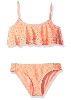Roxy Big Girls' Palm Paradise Flutter Swimsuit Set
