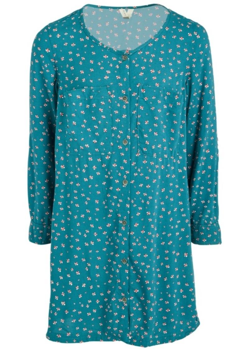 Roxy Big Girls Printed Button-Front Dress