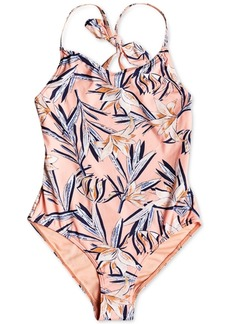 Roxy Big Girls Printed One-Piece Swimsuit
