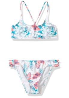 Roxy Big Girls' Salty Shade Athletic Swimsuit Set