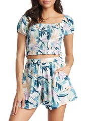 Roxy Birdy Song Puff Sleeve Top
