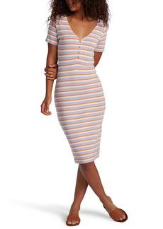 Roxy Bring It On Stripe Rib Dress