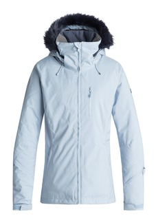 Roxy Down the Line Snow Jacket with Faux Fur Trim