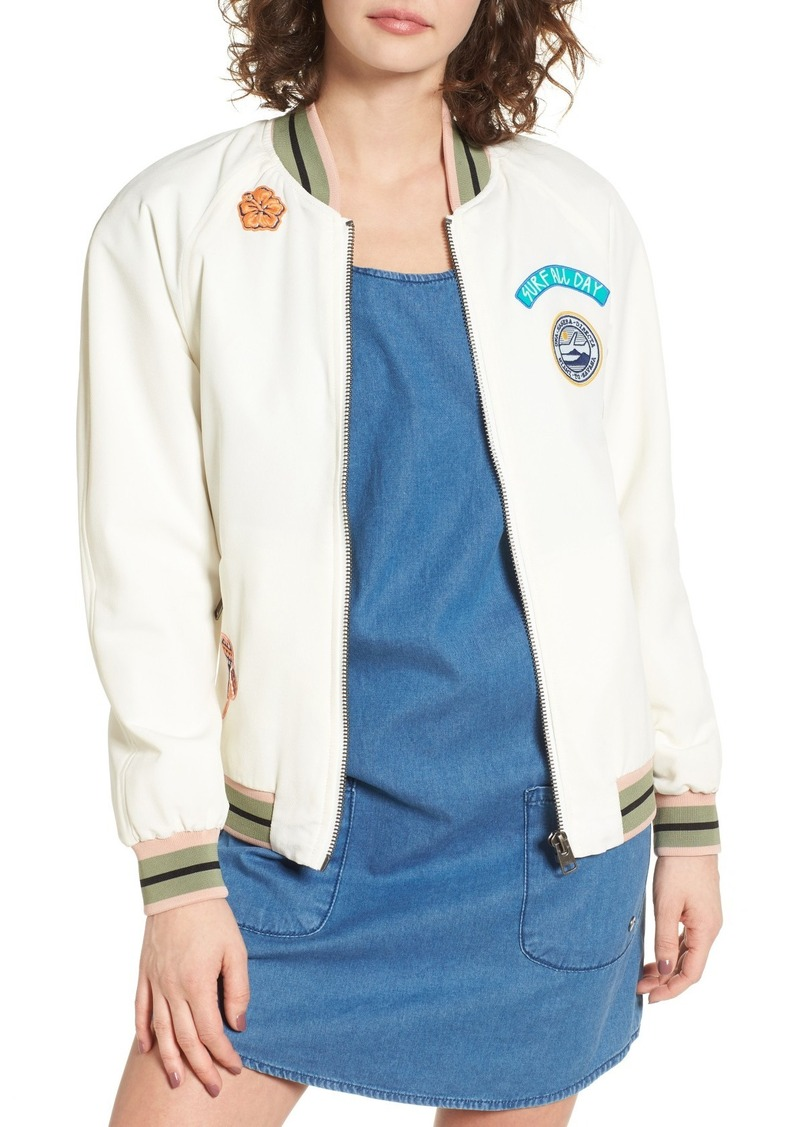 Roxy Embroidered Bomber Jacket
