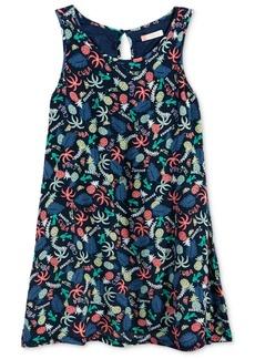 Roxy Everyone On A Run Palm Tree-Printed Dress, Big Girls (7-16)