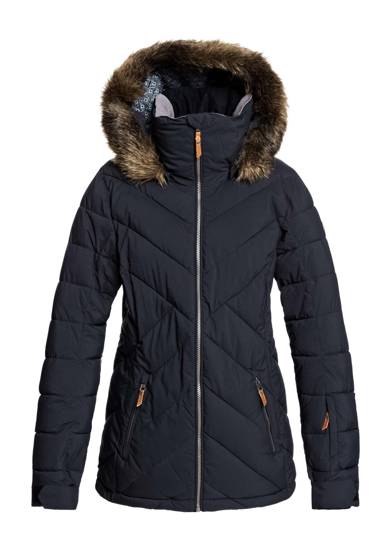 Roxy Faux Fur Trim PrimaLoft® Puffer Jacket