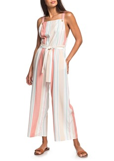 Roxy From the Clouds Stripe Wide Leg Jumpsuit