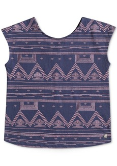 Roxy Geo-Print Cotton Top, Little Girls