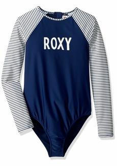 Roxy Girls' Big Downtown Lights Long Sleeve Onesie Swimsuit