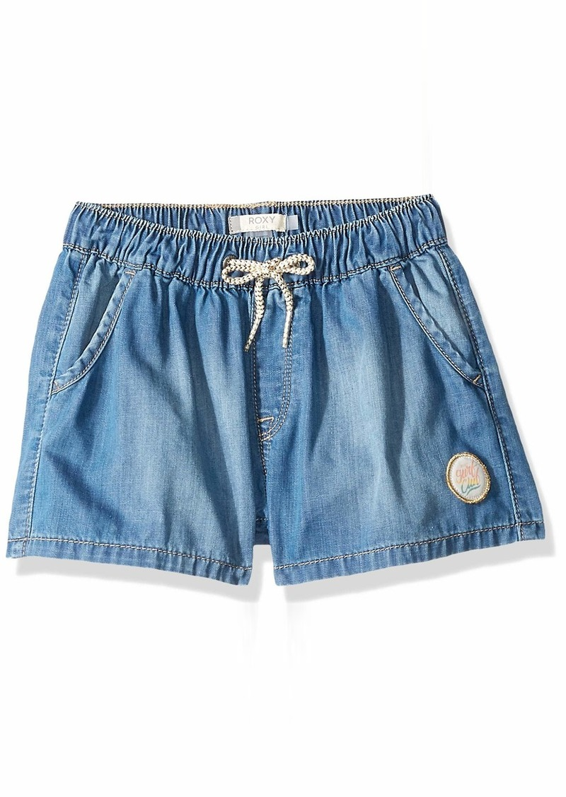Roxy Girls' Big Honey Sunday Denim Jean Shorts
