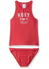 Roxy Girls' Big Need The Sea Tankini Swimsuit Set Rouge red