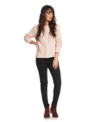 6ec158af8 ... Roxy Glimpse of Romance Cable Knit Sweater ...