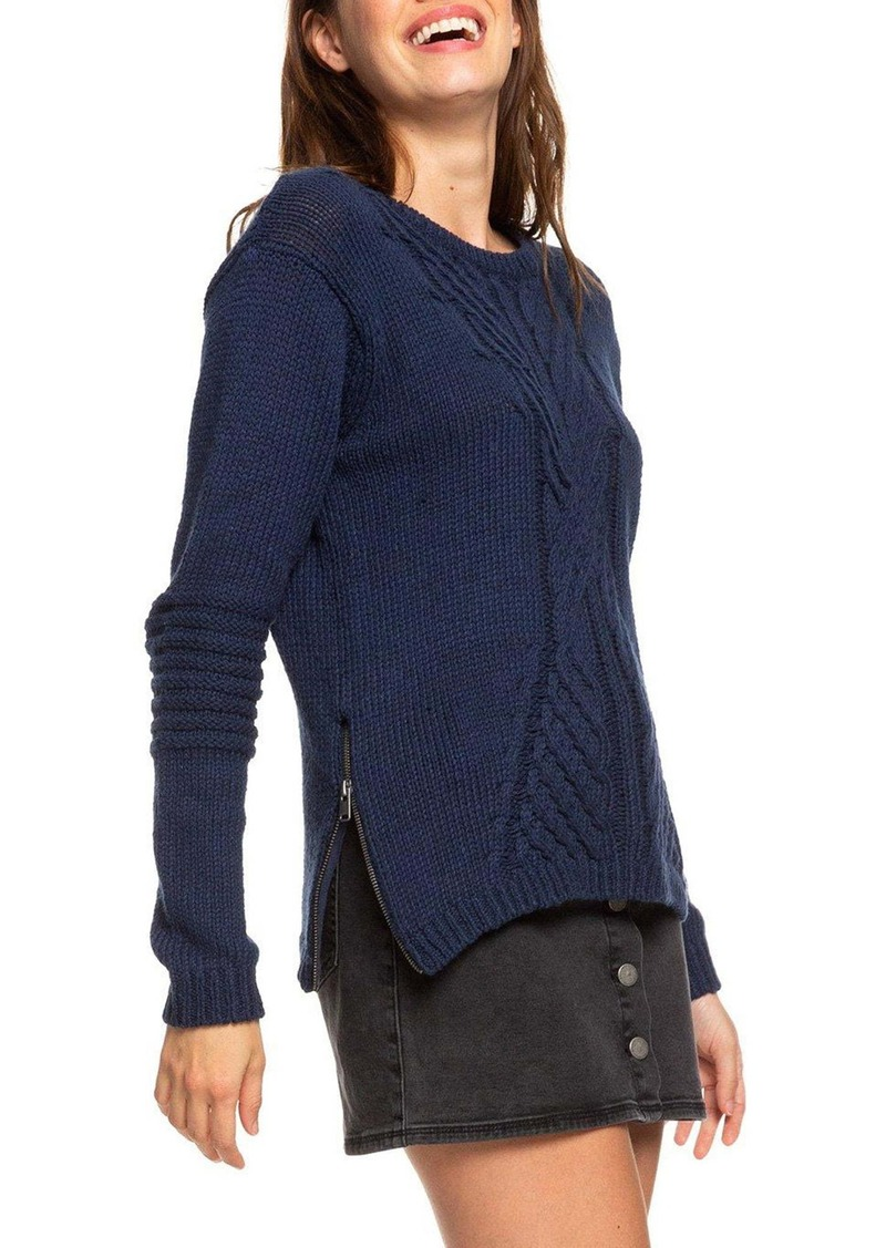 Roxy Glimpse of Romance Cable Knit Sweater
