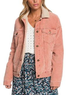 Roxy Good Fortune Fleece Trim Cord Jacket