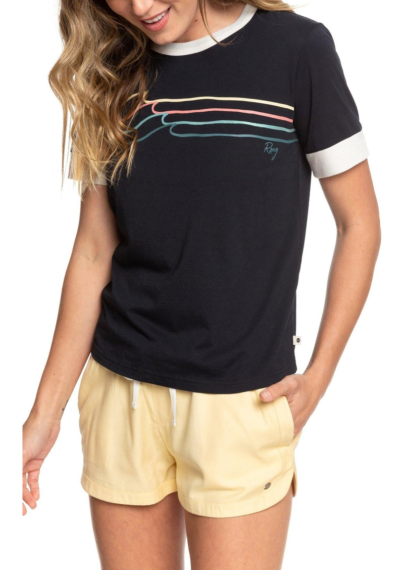 Roxy Good Mood Island Ringer Graphic Tee