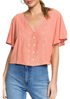 Roxy Hanging Moon Lace Crop Top