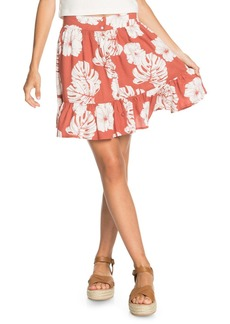 Roxy Higher Love Floral Miniskirt