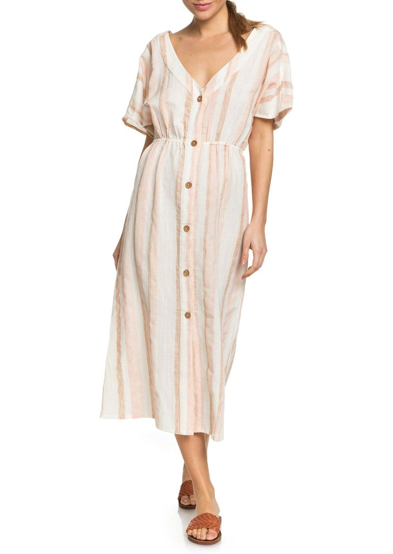 Roxy Joyful Noise Stripe Midi Dress