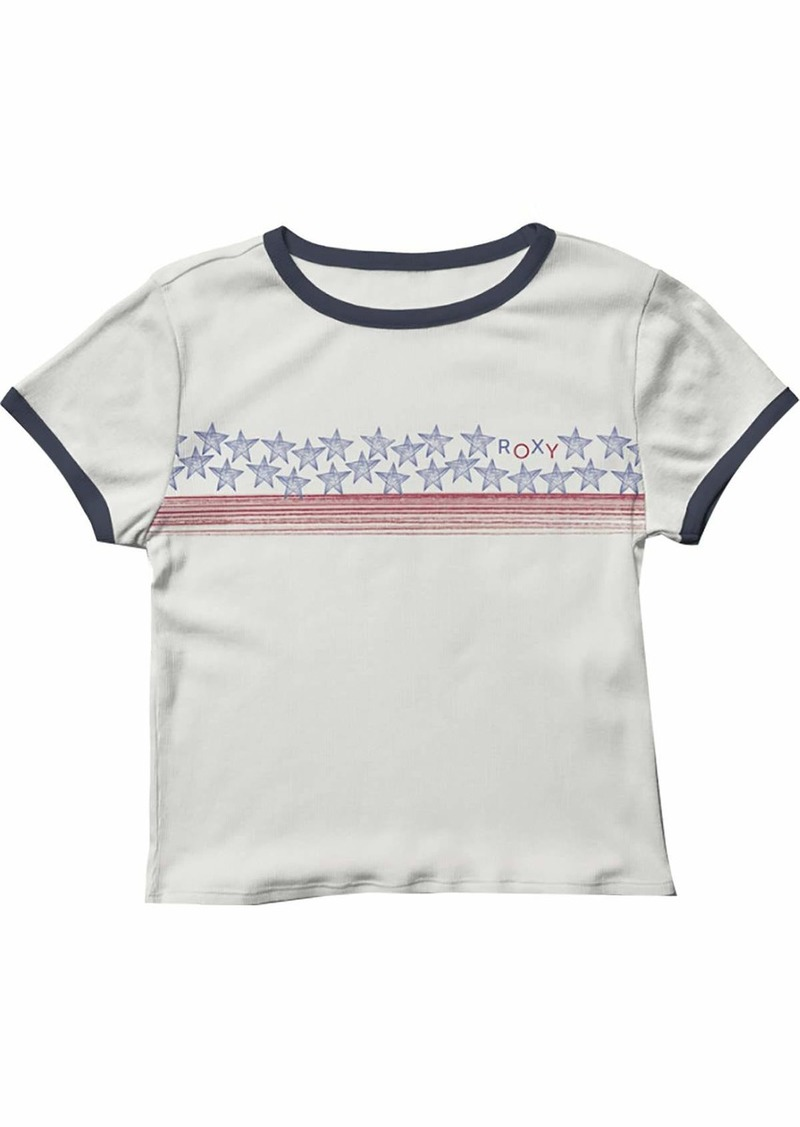 Roxy Junior's Americana Stars and Stripes T-Shirt  S