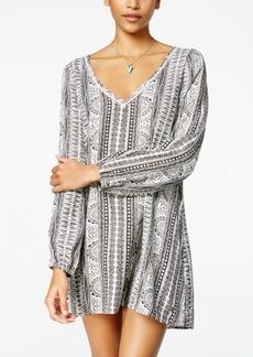 Roxy Juniors' April Morning Printed Long Sleeve Shift Dress