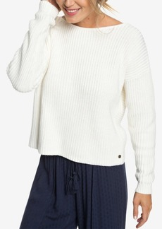 Roxy Juniors' Bamboo Bridge Twist-Back Sweater