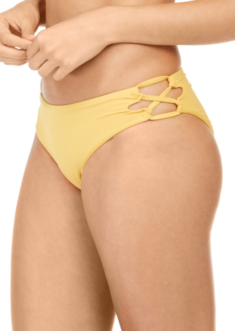 Roxy Juniors' Beach Classics Lace-Up Bikini Bottoms Women's Swimsuit